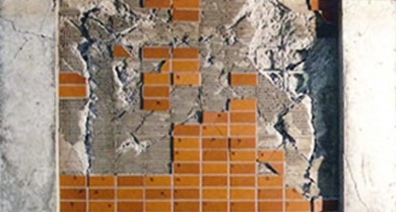 一般的タイル張り外壁のタイル状態