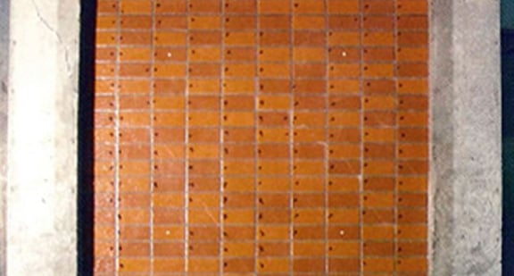 JKセライダー工法施工のタイル状態